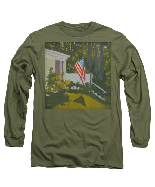 Morning Sun On Old Glory Long Sleeve T-Shirt