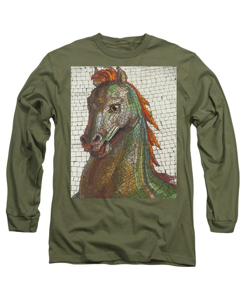 Mosaic Horse Long Sleeve T-Shirt