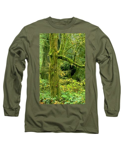 Long Sleeve T-Shirt featuring the photograph Moss Draped Big Leaf Maple California by Dave Welling
