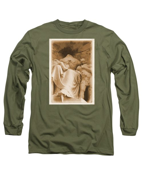 Mother With Children Long Sleeve T-Shirt by Nadalyn Larsen