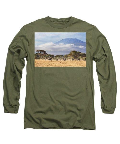 Mount Kilimanjaro Amboseli  Long Sleeve T-Shirt