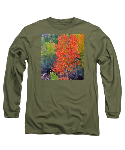 Mountain Color Long Sleeve T-Shirt by Marilyn Diaz