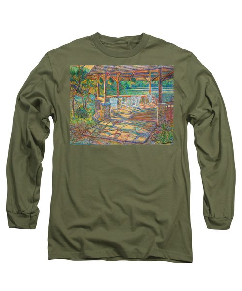 Mountain Lake Shadows Long Sleeve T-Shirt
