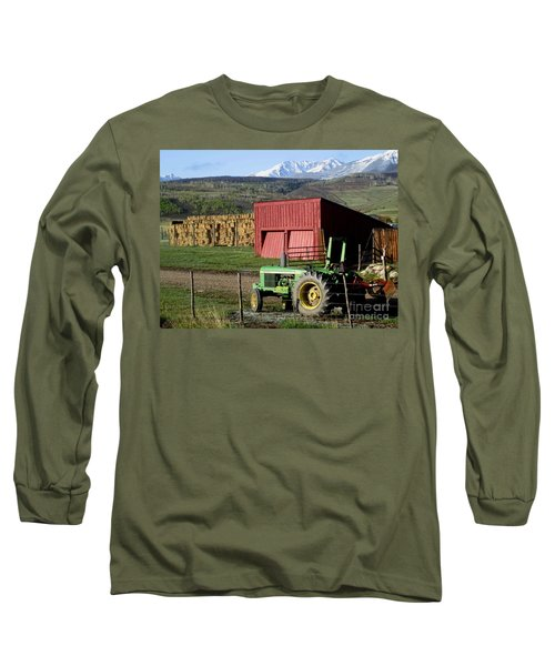Mountain Living Long Sleeve T-Shirt by Fiona Kennard