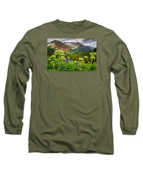 Mountain Majesty Long Sleeve T-Shirt by Priscilla Burgers