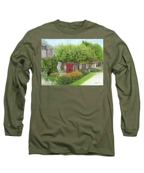Long Sleeve T-Shirt featuring the painting Mountain Playhouse Jennerstown Pa by Albert Puskaric