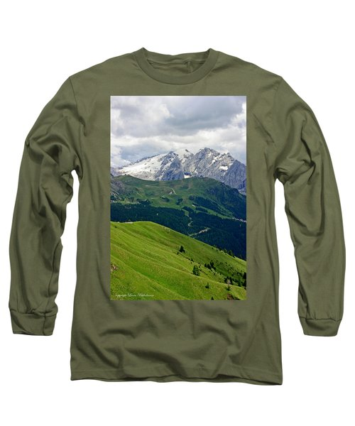 Long Sleeve T-Shirt featuring the photograph Mountains by Leena Pekkalainen