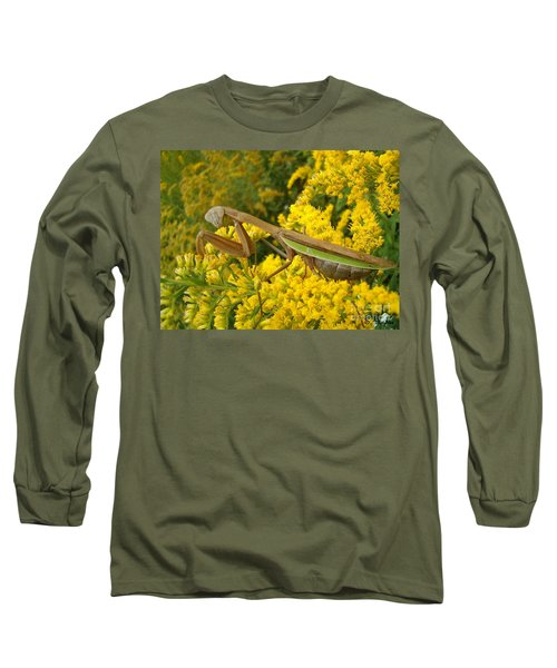 Long Sleeve T-Shirt featuring the photograph Mr. Mantis by Sara  Raber