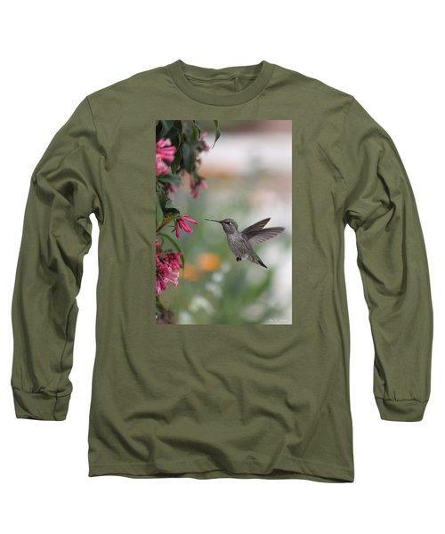Mrs. Little Anna's Hummingbird Long Sleeve T-Shirt