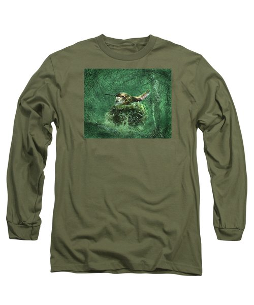 Long Sleeve T-Shirt featuring the photograph Mrs. Rufous by I'ina Van Lawick