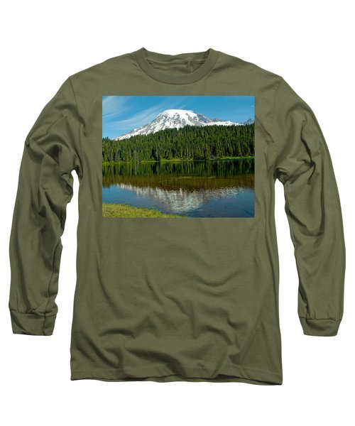 Long Sleeve T-Shirt featuring the photograph Mt. Rainier II by Tikvah's Hope