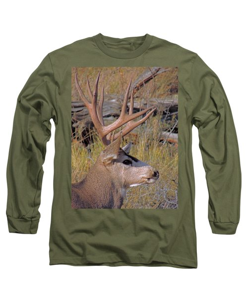 Long Sleeve T-Shirt featuring the photograph Mule Deer by Lynn Sprowl