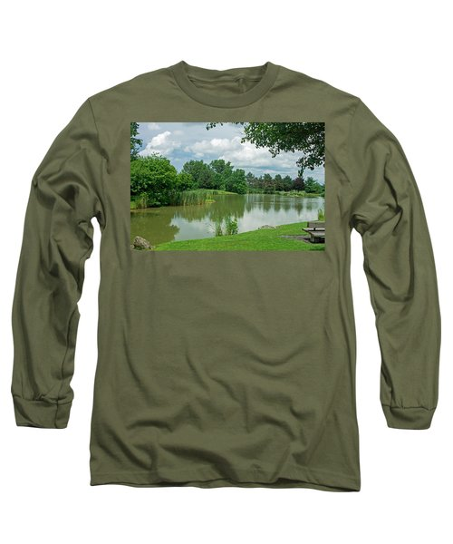 Muller Chapel Pond Ithaca College Long Sleeve T-Shirt