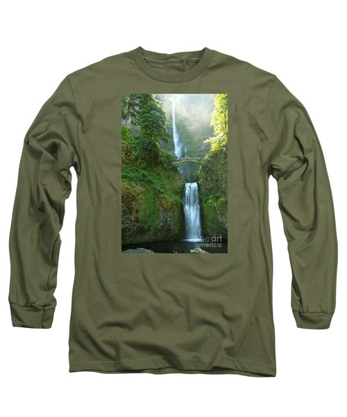 Multnomah Falls Long Sleeve T-Shirt by Christiane Schulze Art And Photography