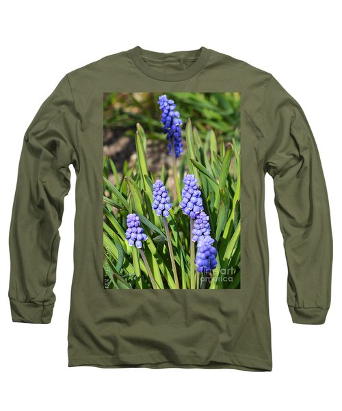 Muscari Armeniacum Long Sleeve T-Shirt by Felicia Tica
