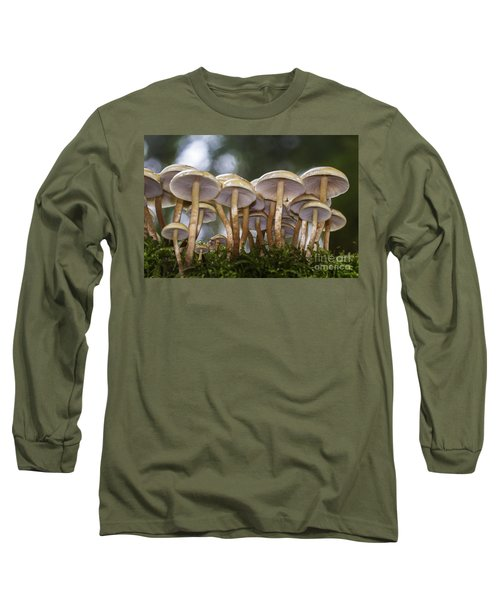 Mushroom Forest Long Sleeve T-Shirt by Sonya Lang