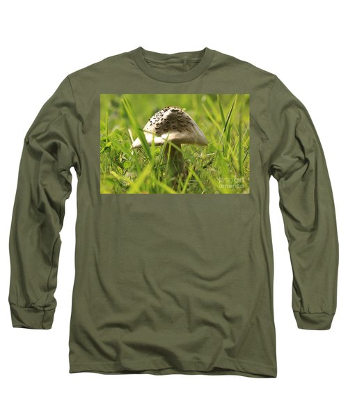 Mushroom In The Grass Long Sleeve T-Shirt