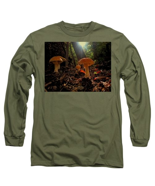 Long Sleeve T-Shirt featuring the photograph Mushroom Morning by GJ Blackman