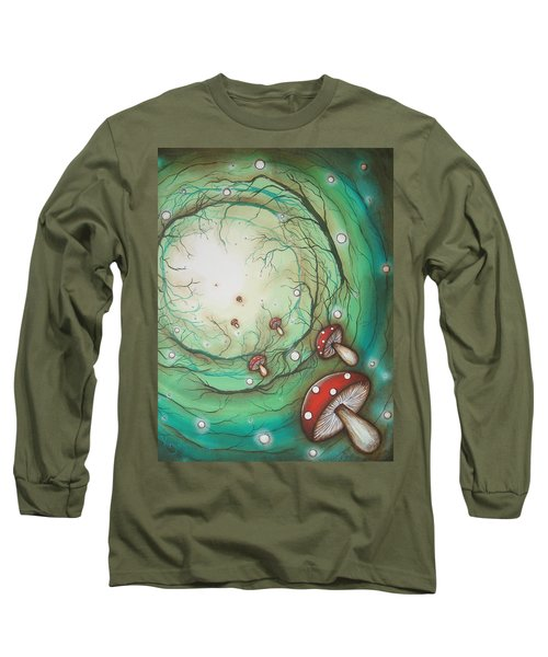Mushroom Time Tunel Long Sleeve T-Shirt