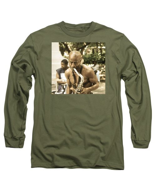 Music In The Park Long Sleeve T-Shirt by Menachem Ganon