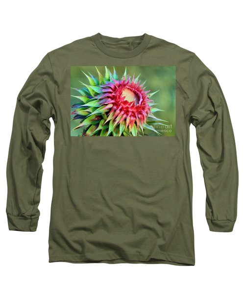 Long Sleeve T-Shirt featuring the photograph Musk Thistle by Teresa Zieba