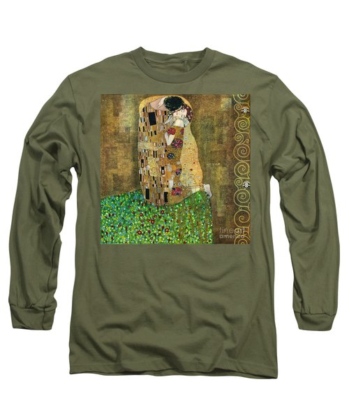 My Acrylic Painting As An Interpretation Of The Famous Artwork Of Gustav Klimt The Kiss - Yakubovich Long Sleeve T-Shirt