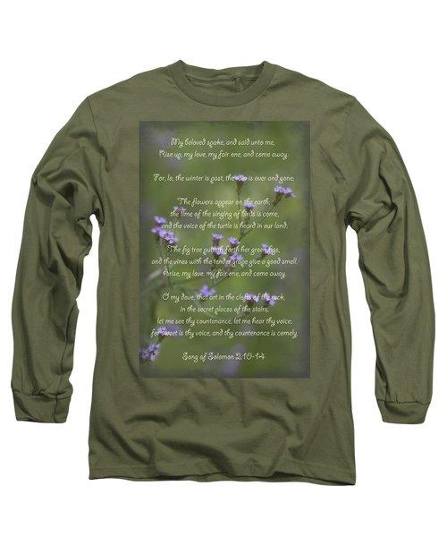 My Beloved Spoke - Purpletop Vervain Verbena Bonariensis Long Sleeve T-Shirt