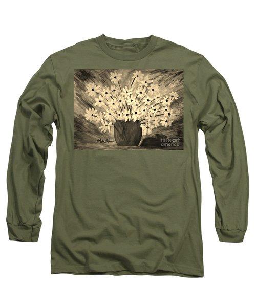 My Daisies Sepia Version Long Sleeve T-Shirt
