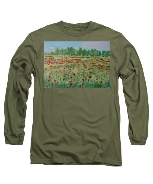 My Poppies Field Long Sleeve T-Shirt