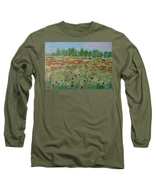 My Poppies Field Long Sleeve T-Shirt by Felicia Tica
