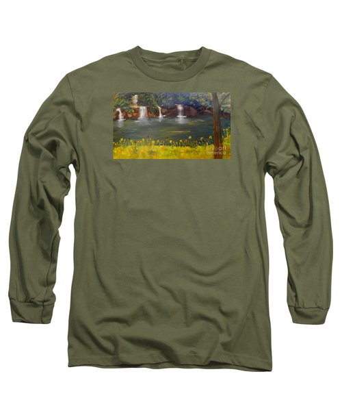 Nandroy Falls In Queensland Long Sleeve T-Shirt
