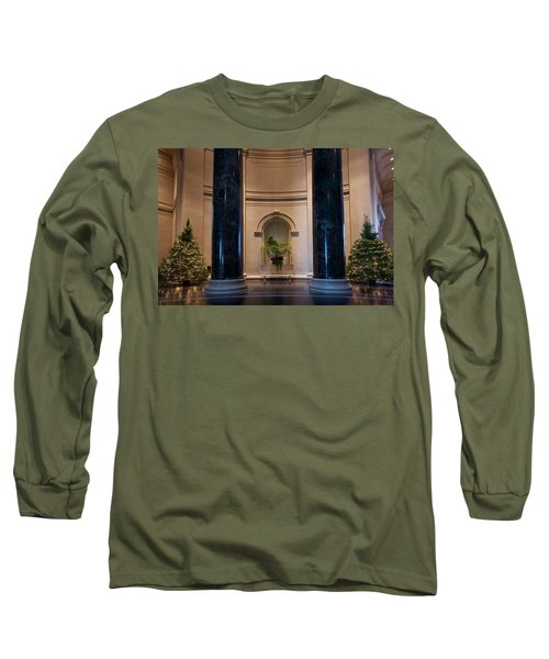 National Gallery Of Art Christmas Long Sleeve T-Shirt by Stuart Litoff