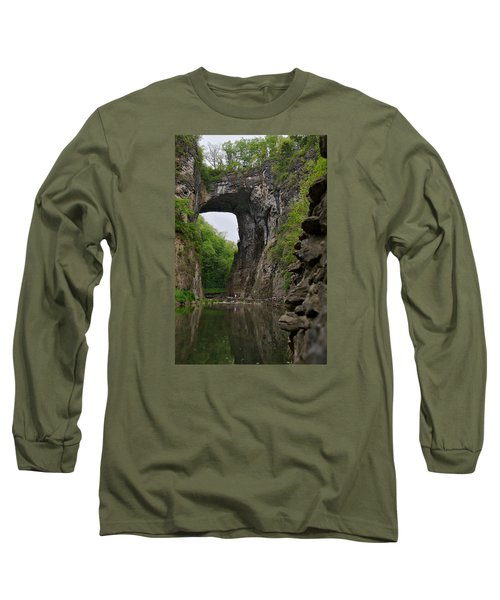 Natural Bridge Long Sleeve T-Shirt by Lawrence Boothby