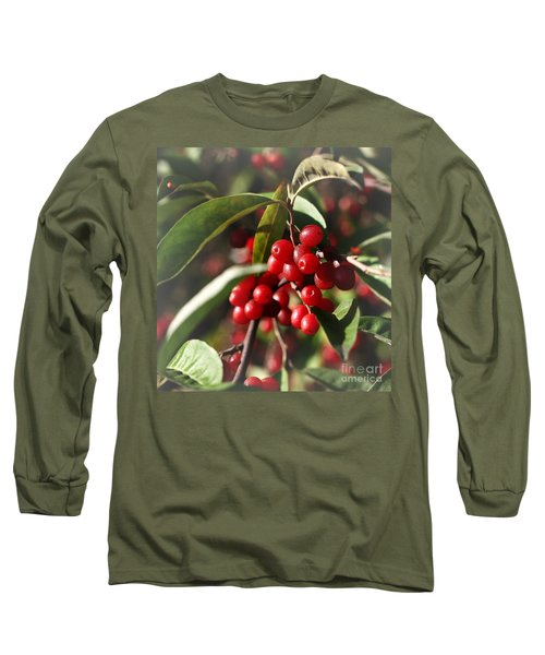 Natures Gift Of Red Berries Long Sleeve T-Shirt