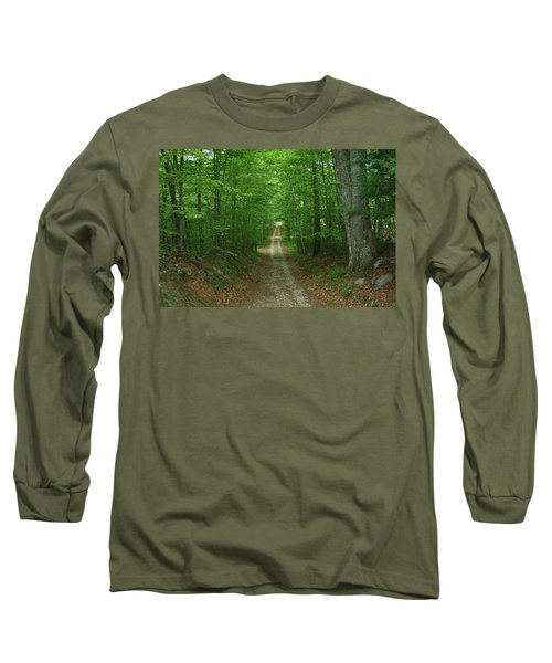 Nature's Way At James L. Goodwin State Forest  Long Sleeve T-Shirt by Neal Eslinger