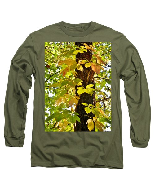 Neon Leaves Long Sleeve T-Shirt