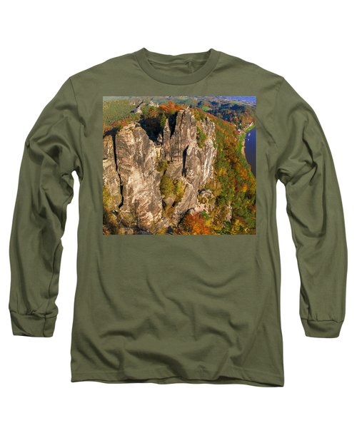 Neurathen Castle In The Saxon Switzerland Long Sleeve T-Shirt