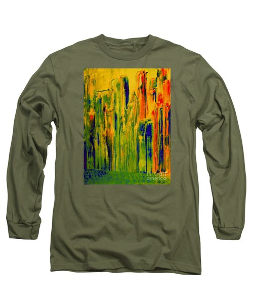 New York On A Hot June Morning Long Sleeve T-Shirt by Bill OConnor