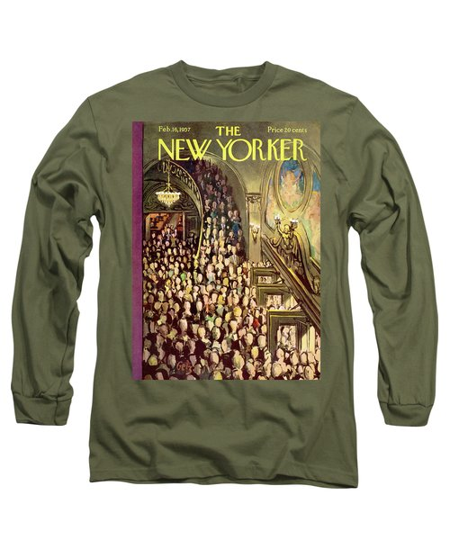 New Yorker February 16th, 1957 Long Sleeve T-Shirt