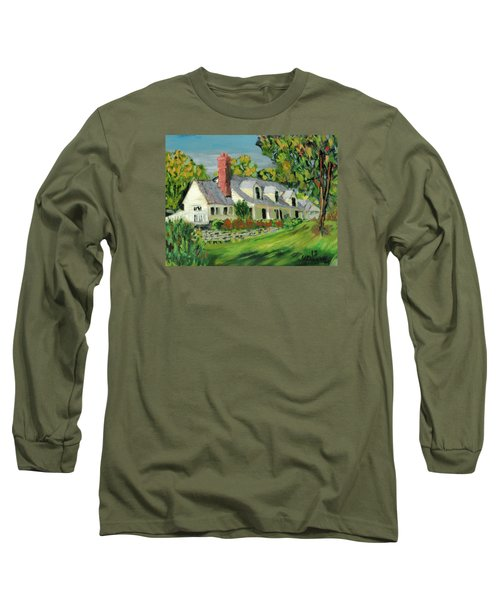 Long Sleeve T-Shirt featuring the painting Next To The Wooden Duck Inn by Michael Daniels