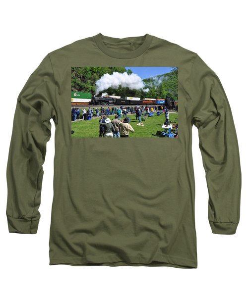 Nickel Plate Berkshire At Horseshoe Curve Long Sleeve T-Shirt