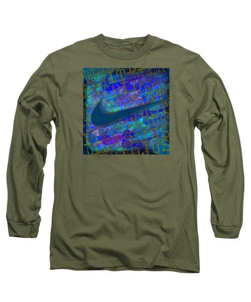 Nike Just Did It Blue Long Sleeve T-Shirt
