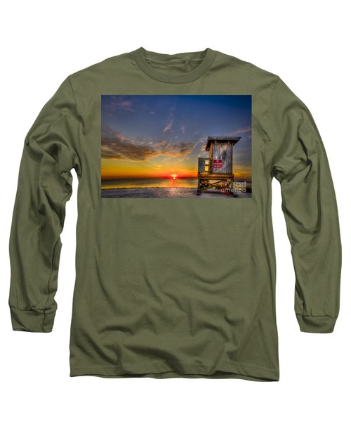 No Life Guard On Duty Long Sleeve T-Shirt by Marvin Spates