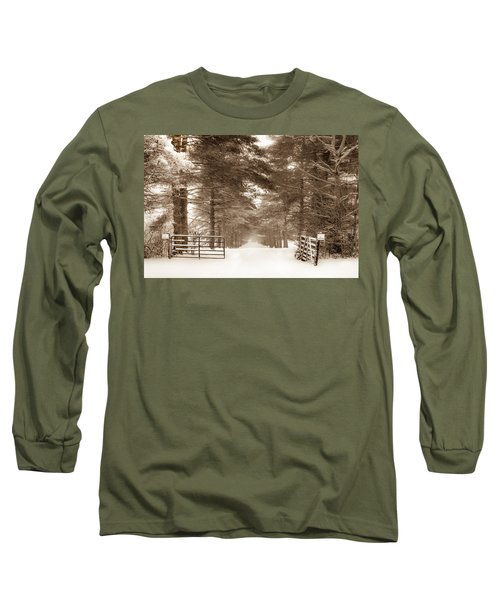 No Trespassing - Sepia Long Sleeve T-Shirt