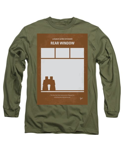 No238 My Rear Window Minimal Movie Poster Long Sleeve T-Shirt by Chungkong Art