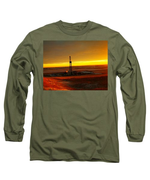 Nomac Drilling Keene North Dakota Long Sleeve T-Shirt
