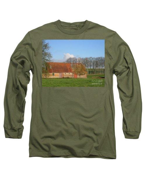 Normandy Storm Damaged Barn Long Sleeve T-Shirt