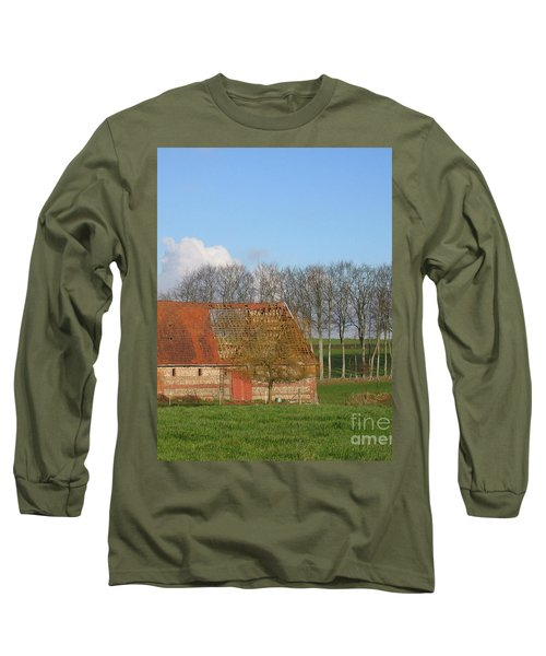 Normandy Storm Damaged Barn Long Sleeve T-Shirt