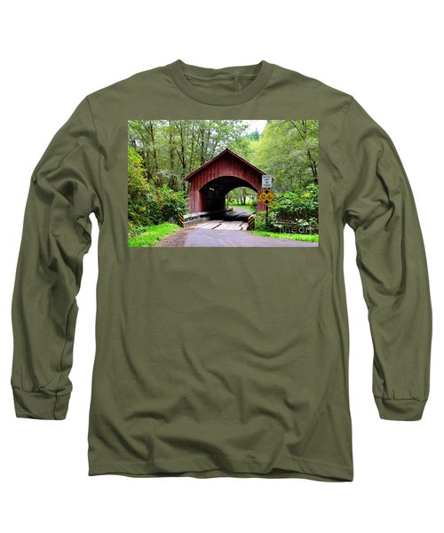 North Fork Yachats Covered Bridge Long Sleeve T-Shirt