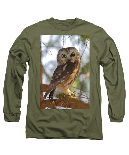Northern Saw-whet Owl Long Sleeve T-Shirt